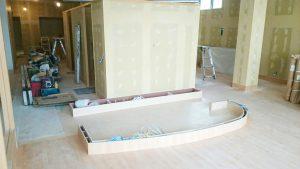 内装工事の状況写真